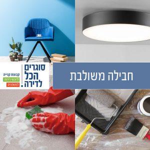 חבילה משולבת למעבר דירה: גופי תאורה, חבילת צבע וניקיון דירה!