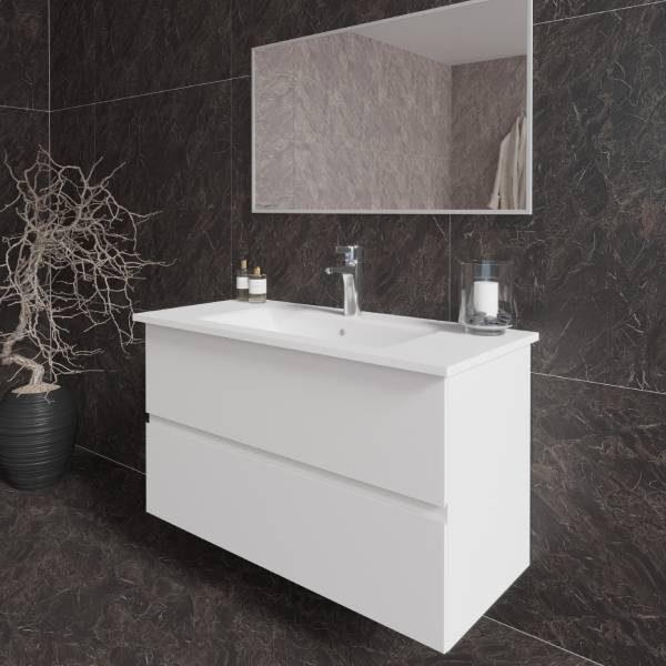 ארון אמבטיה מרחף, צבע אפוקסי דגם הרדוף