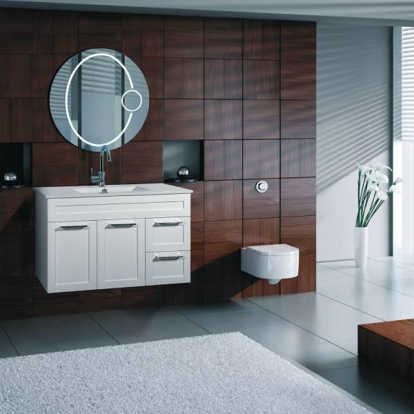 ארון אמבטיה תלוי, צבע אפוקסי דגם טללים