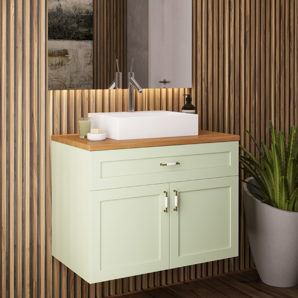 ארון אמבטיה תלוי / מרחף, צבע אפוקסי דגם אפיק