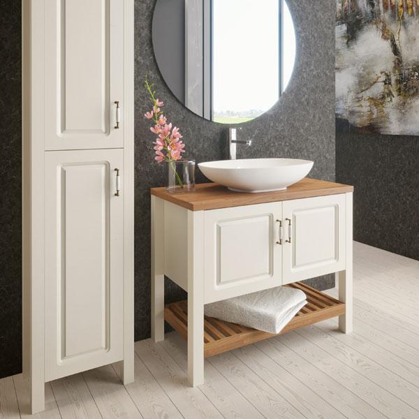 ארון אמבטיה עומד, צבע אפוקסי דגם אלונים