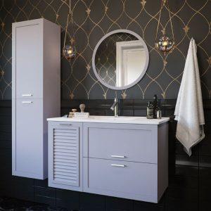 ארון אמבטיה תלוי / מרחף צבע אפוקסי דגם דברת