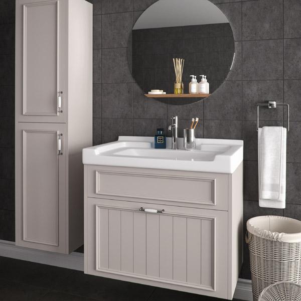 ארון אמבטיה כפרי תלוי / מרחף צבע אפוקסי דגם דרור