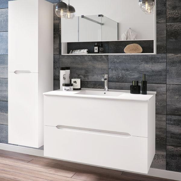 ארון אמבטיה מרחף, צבע אפוקסי דגם חניתה