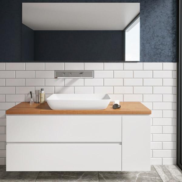 ארון אמבטיה יוקרתי תלוי, צבע אפוקסי דגם חורשים