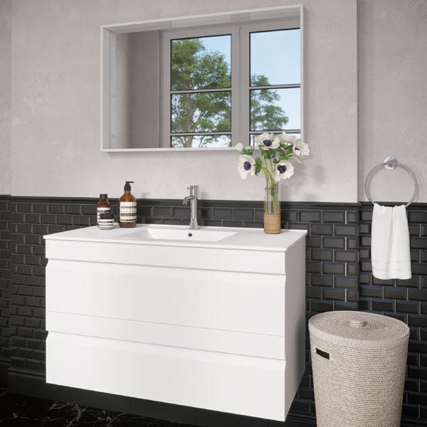 ארון אמבטיה תלוי, מגירות צבע אפוקסי דגם גזית