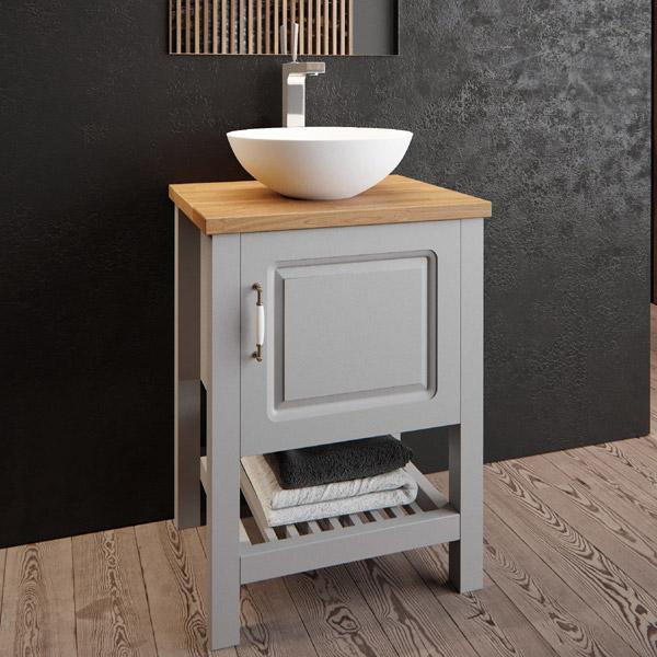 ארון אמבטיה עומד, צבע אפוקסי דגם מיני אלונים