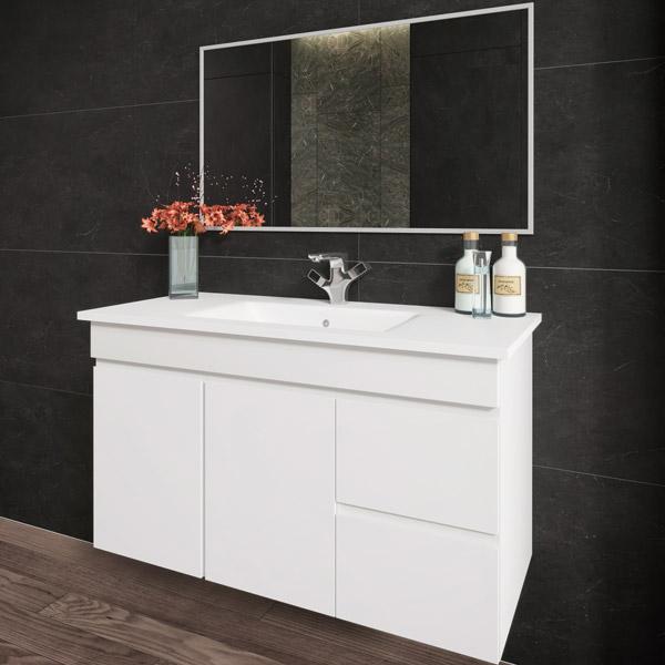 ארון אמבטיה תלוי, צבע אפוקסי דגם יפעת