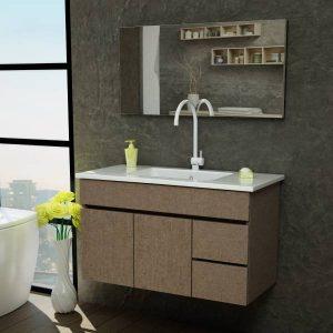 ארון אמבטיה מרחף פורמייקה דגם סופה