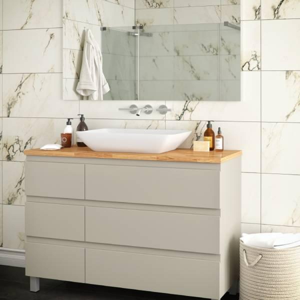 ארון אמבטיה עומד, צבע אפוקסי דגם דליה