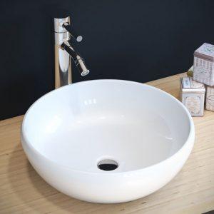 כיור מונח מבריק לארון אמבטיה דגם יתיר