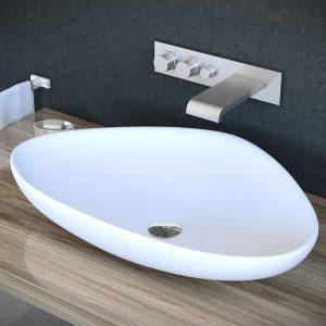 כיור מונח מבריק לארון אמבטיה דגם פולג