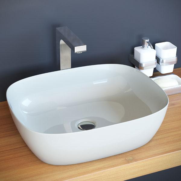 כיור מונח מבריק לארון אמבטיה דגם אונו