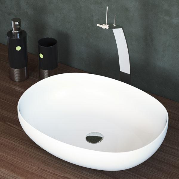 כיור מונח מבריק לארון אמבטיה דגם נעמן