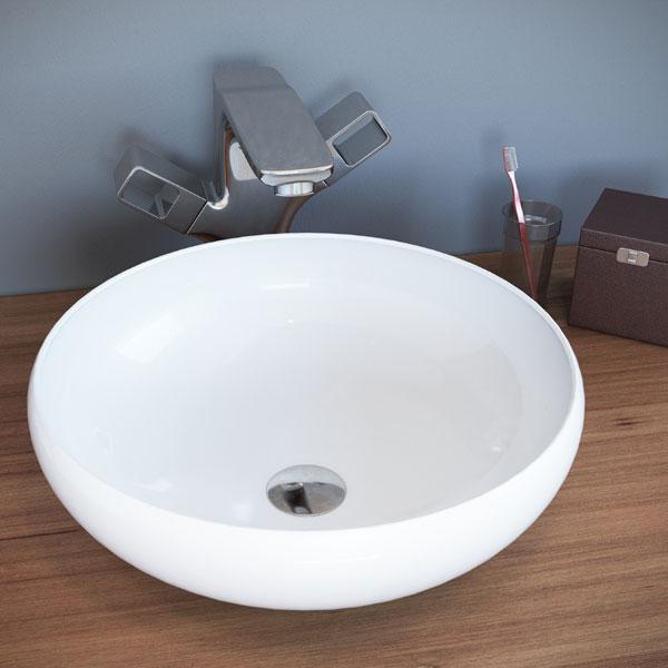 כיור מונח מבריק לארון אמבטיה דגם מזור
