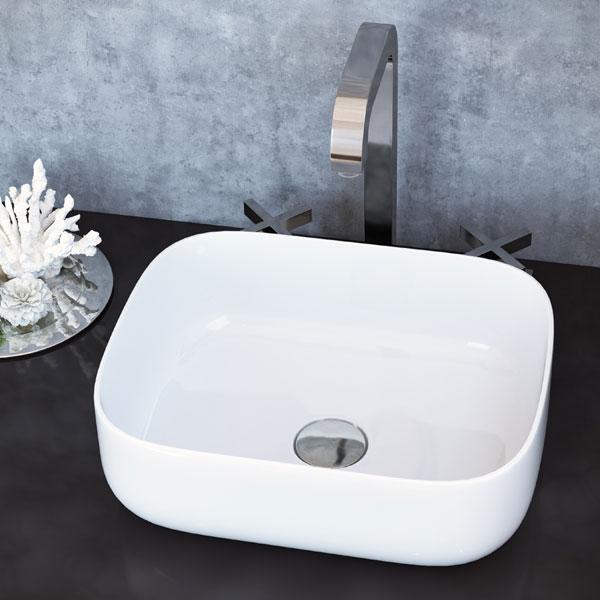 כיור מונח מבריק לארון אמבטיה דגם גדור