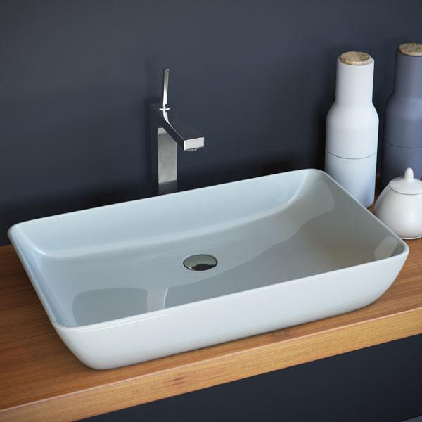 כיור מונח מבריק לארון אמבטיה דגם דישון