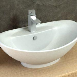 כיור מונח מבריק לארון אמבטיה דגם בוקק