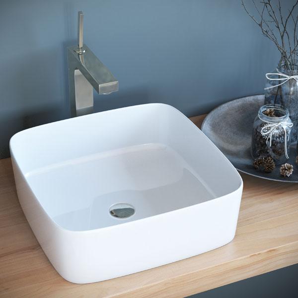 כיור מונח מבריק לארון אמבטיה דגם ארדון