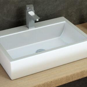 כיור מונח מבריק לארון אמבטיה דגם עמוד