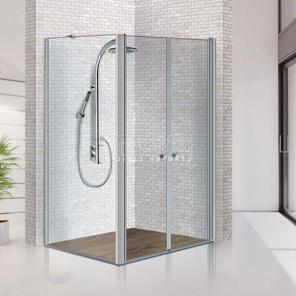 """מקלחון פינתי 6 מ""""מ פרופילים דגם פלג 503"""