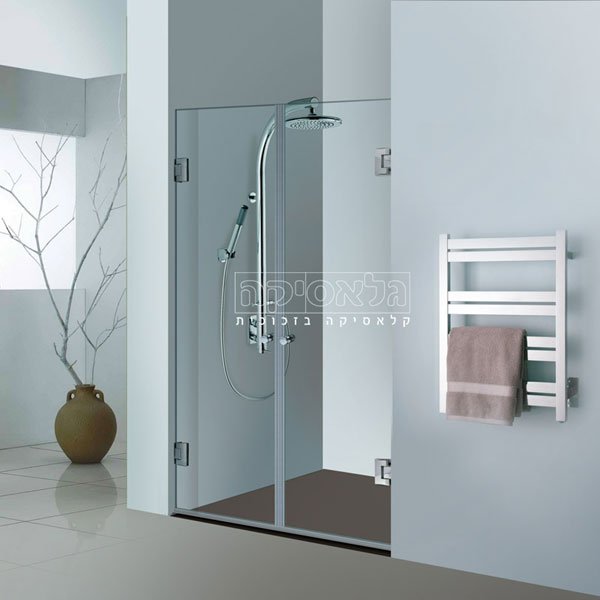 """מקלחון בהתאמה אישית חזיתי 8 מ""""מ צירים דגם אגם 811"""