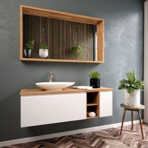 ארון אמבטיה תלוי צבע אפוקסי דגם אלמוג