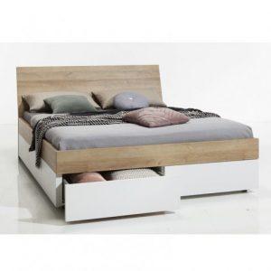"""מיטה מעוצבת הכוללת מגירות, 160 ס""""מ דגם הדס"""