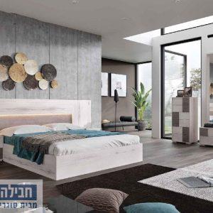 חדר שינה זוגי קומפלט ומעוצב דגם עדי