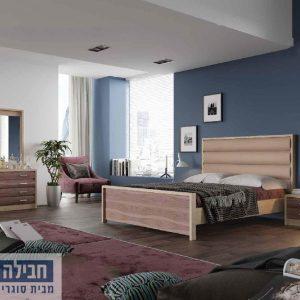 חדר שינה זוגי קומפלט ומעוצב דגם הילה