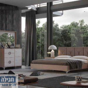 חדר שינה זוגי קומפלט ומעוצב דגם ארז