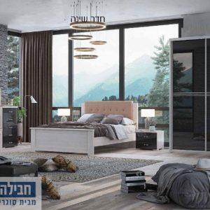 חדר שינה זוגי קומפלט ומעוצב דגם תמר