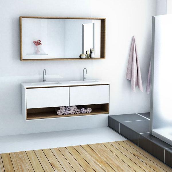 ארון אמבטיה תלוי, צבע אפוקסי דגם גשר
