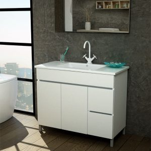 ארון אמבטיה תלוי/מרחף פורמייקה דגם תמר