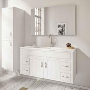 ארון אמבטיה כפרי תלוי, צבע אפוקסי בסגנון כפרי דגם מאייר
