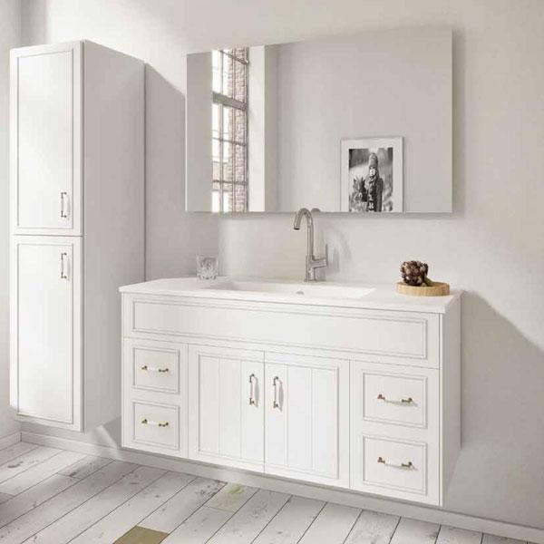 ארון אמבטיה כפרי תלוי, צבע אפוקסי דגם מאייר