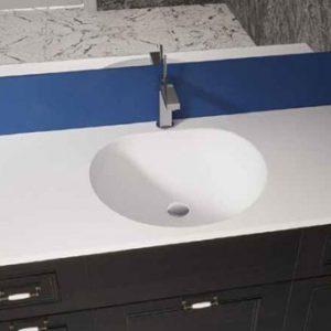כיור ומשטח אקרילי לארון אמבטיה דגם חצב