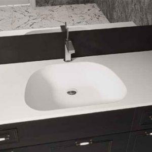 כיור ומשטח אקרילי לארון אמבטיה דגם נרקיס