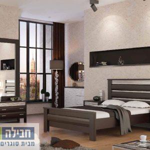 חדר שינה זוגי קומפלט ומעוצב דגם אסף