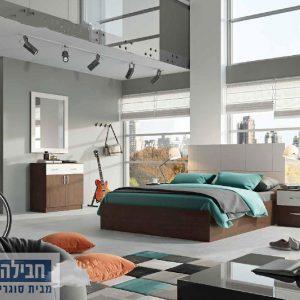 חדר שינה זוגי קומפלט ומעוצב דגם דורון