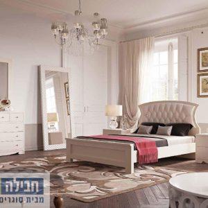 חדר שינה זוגי קומפלט ומעוצב דגם איילה