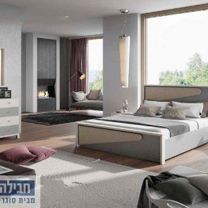 חדר שינה זוגי קומפלט ומעוצב דגם שחר