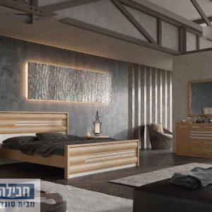 חדר שינה זוגי קומפלט ומעוצב דגם גיא
