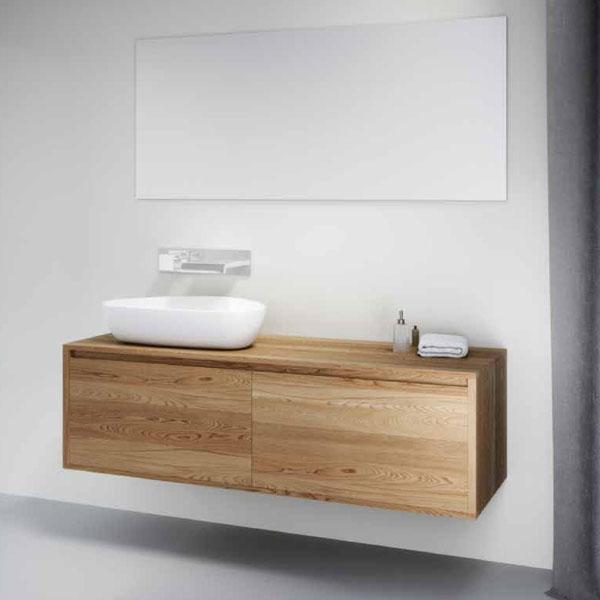 ארון אמבטיה גוף פורניר, חזית הארון עץ לאמי, דגם שיטה