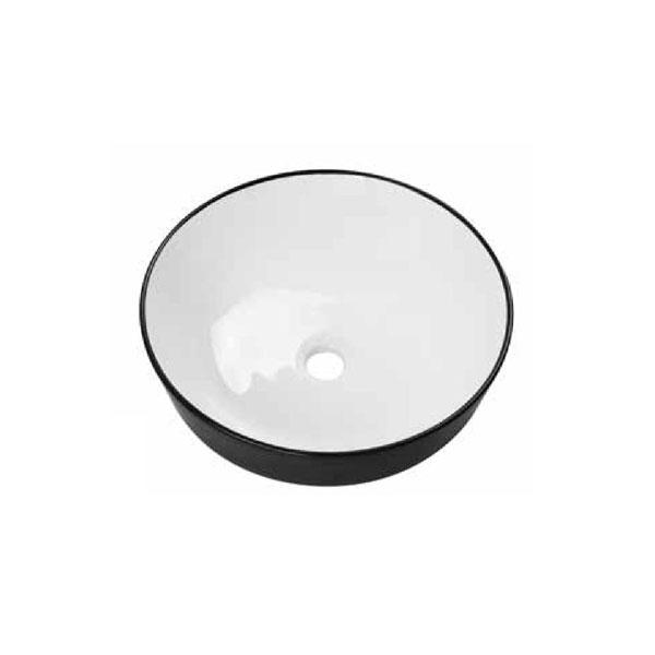 כיור אמבטיה שחור מט, לבן מבריק דגם אילאיל