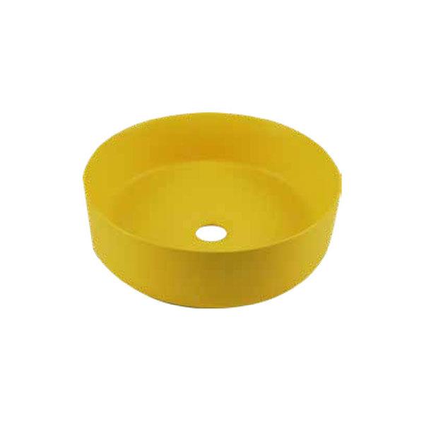 כיור אמבטיה צהוב מט דגם ריחן
