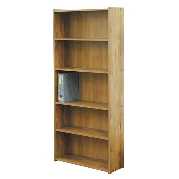 ספריה גדולה בעלת יכולת אחסון ותכולה, 5 מדפים
