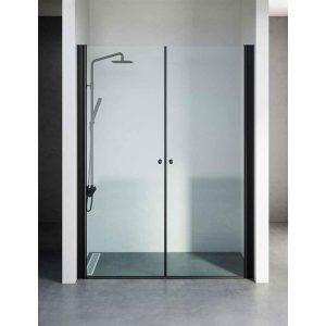 מקלחון חזית יוקרתי בגודל סטנדרטי, פרזול שחור דגם נטלי