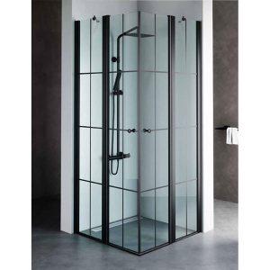 מקלחון יוקרתי בגודל סטנדרטי, פרזול שחור דגם שרון פסים