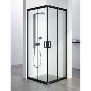 מקלחון יוקרתי בגודל סטנדרטי, פרזול שחור דגם שלומית
